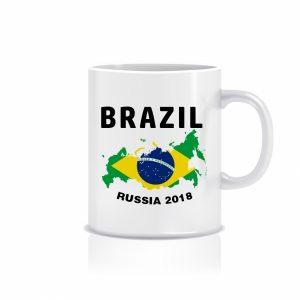 ماگ طرح جام جهانی پرچم برزیل